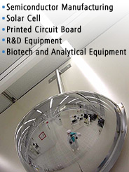Semiconductor Manufacturing, Solar Cell, Printed Circuit Board, R&D Equiptment, Biotech and Analytical Equipment